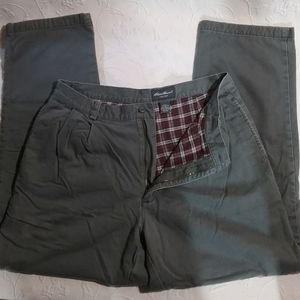 Eddie Bauer flannel lined pants 36x32